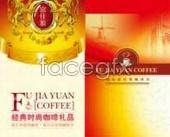 Coffee gift box designs fujia source footage PSD