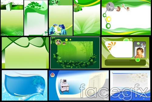 Green sky blue PSD