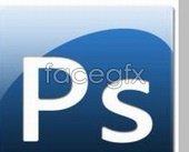 Adobe PS Series icon icons blue background PSD