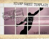 Stamp  character flying cover PSD