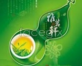 Green tea packaging design ya Ming Xuan template PSD