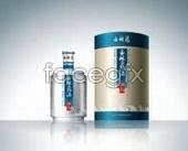 Liquor packaging design Yulin Quan baijiu  templates PSD