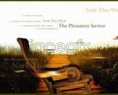 Music CD cover chairs fall plant PSD 2