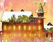 The snow Castle PSD