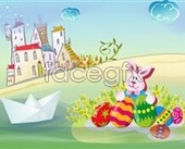 Cartoon rabbit Bunny footage PSD