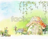 Fairy tale coloring pictures PSD