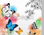 Butterfly-patterned decorative PSD