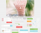 Fresh style UI design PSD source