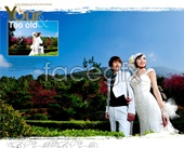 Beautiful wedding photography outdoors PSD