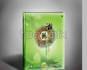 Front erecting green chopsticks recipes renderings of PSD