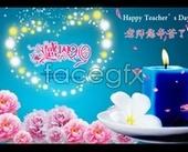 Sweet teacher's Day posters PSD