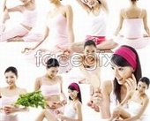 Advertising beauty model PSD source file