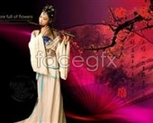 Flute of classical beauty  PSD template