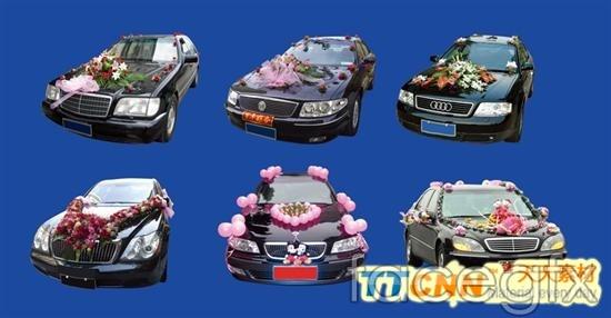 Six float decorating wedding  templates PSD