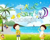 Children's Day celebrate childhood free design PSD