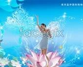 Water Lotus fairy PSD