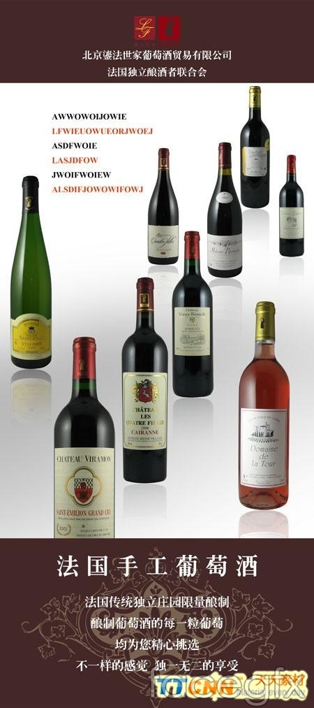 Display rack wine France PSD