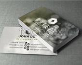 Card information design PSD