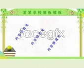 Lace school boards template format PSD
