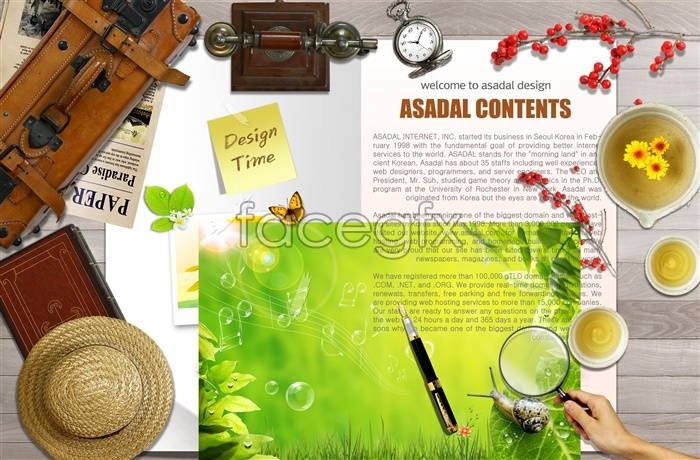 Korea style album design templates PSD