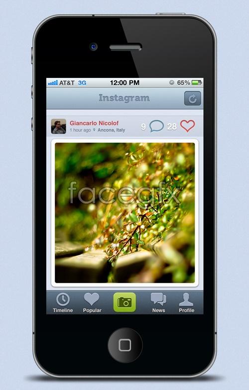 Iphone 4 interface PSD