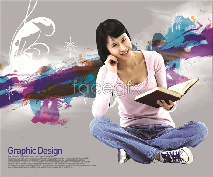 Book-Korea beautiful design elements PSD