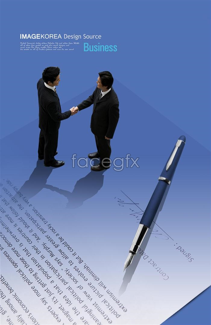 Business cooperation talks successful pen PSD