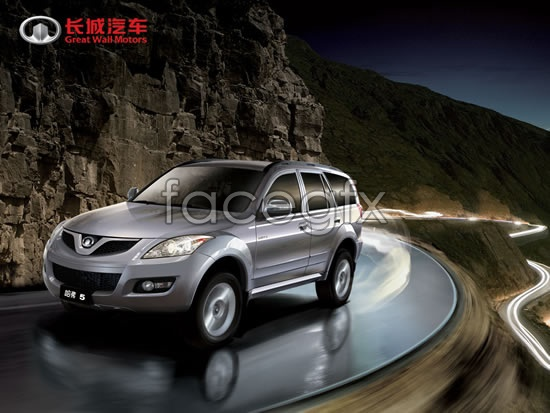 Cool bear sport utility vehicle advertising PSD