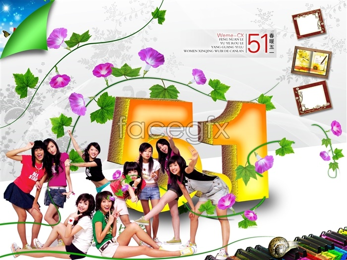 Fashion warm spring 51 PSD