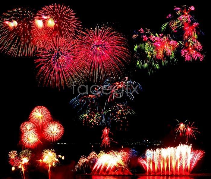Fireworks Fireworks salute PSD