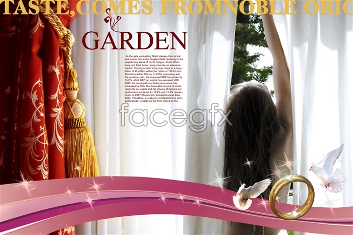 GARDEN ring PSD advertising