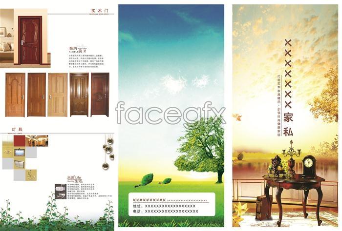 Home company brochures door furniture PSD