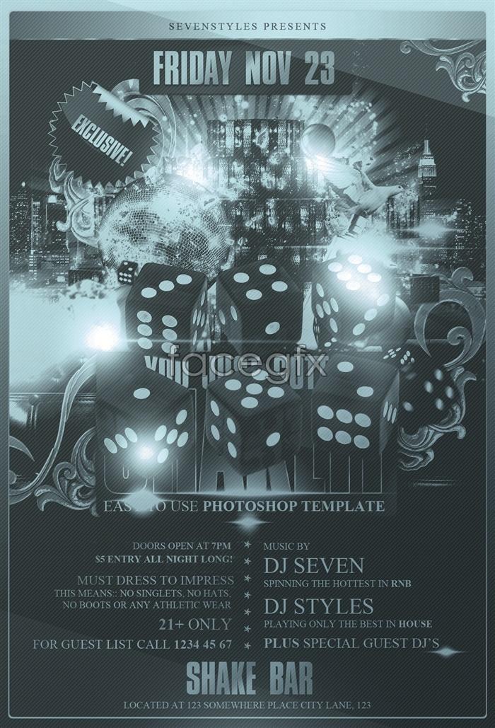 KTV nightclub singing competition poster PSD