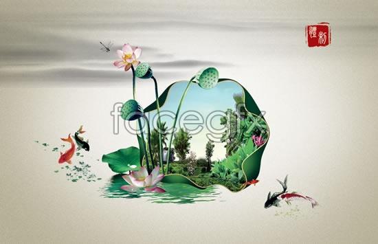 Lotus scent of Lotus Pool PSD