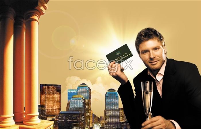 Male VIP card PSD business