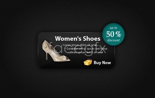 Online shopping Web site promotion module Design PSD