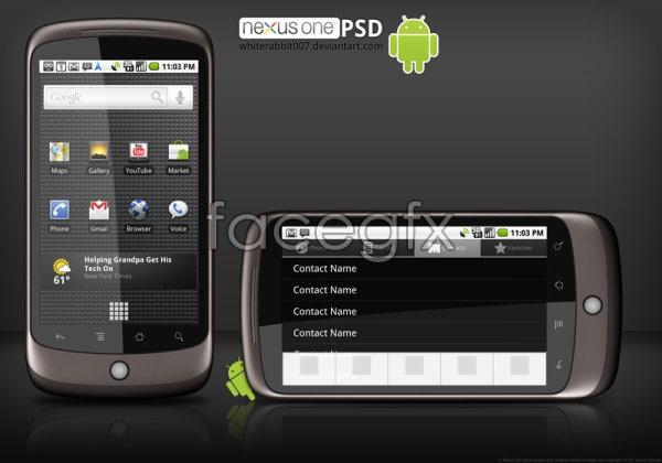 Phone  templates PSD