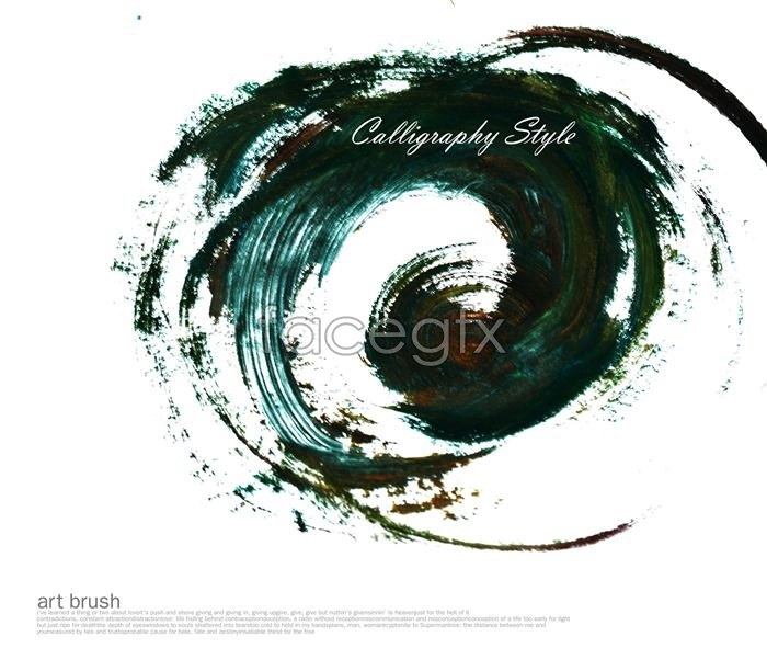 PS brushes dark green ink Design PSD