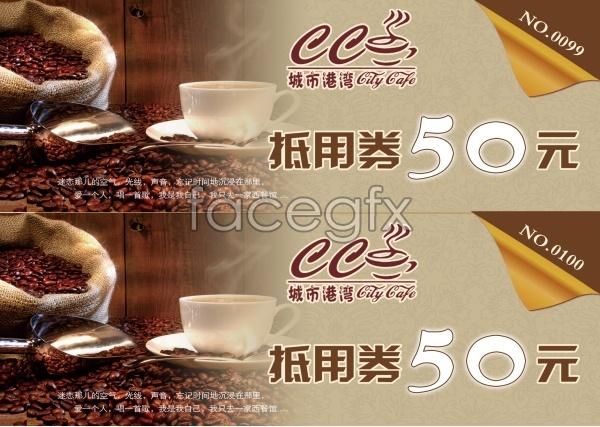 PSD Café voucher template