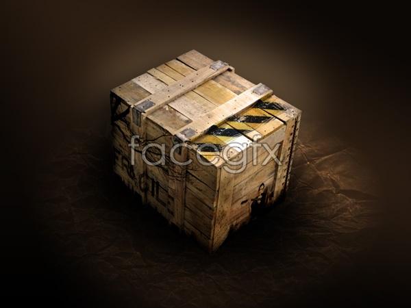 Wooden box PSD