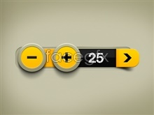 Yellow counter PSD Design