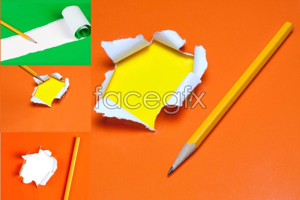 Torn paper and trace a pencil PSD