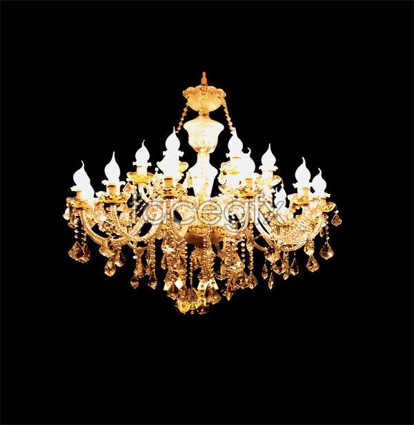 European-style chandeliers  PSD
