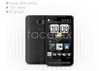 HTC HD2 Smartphone vector