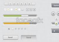 Clean UI Kit PSD