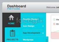 Dashboard UI Elements PSD