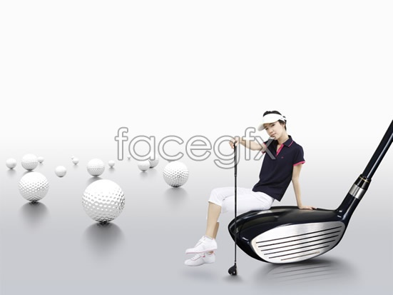 Beauty voice golf course advertising posters PSD stuff