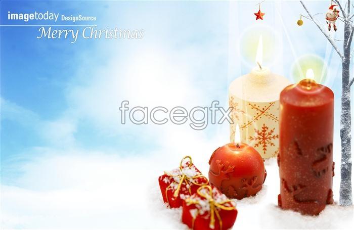 Christmas candle light PSD