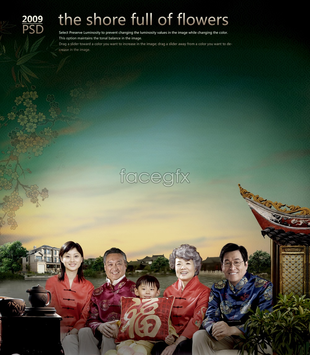 Family portrait PSD