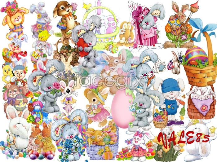 Rabbit design collection PSD